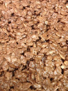 nutella & chocolate rice krispies treats