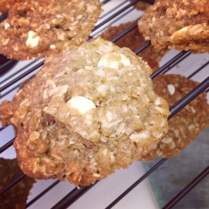 Biscoff Oatmeal-White-Chocolate-Chip Cookies