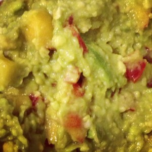 Homemade Peach Guacamole