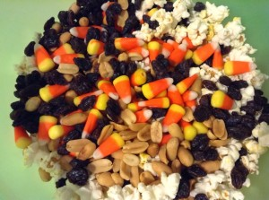 Candy Corn Popcorn Balls for the #LeftoversClub