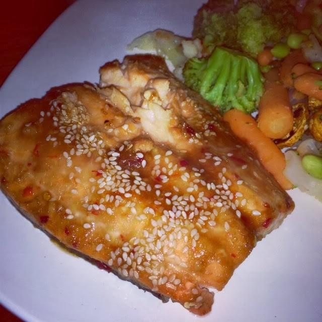 Asian-Marinated Salmon with #GourmetGarden