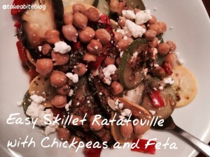 Easy Skillet Ratatouille with Chickpeas and Feta