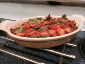 Baked Gnocchi with Spinach and Homemade Tomato Sauce for #WeekdaySupper