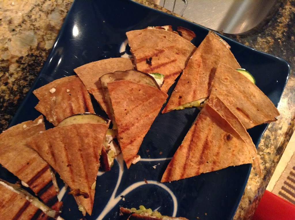 Tapas Party: Grilled Veggie and Goat Cheese Quesadillas