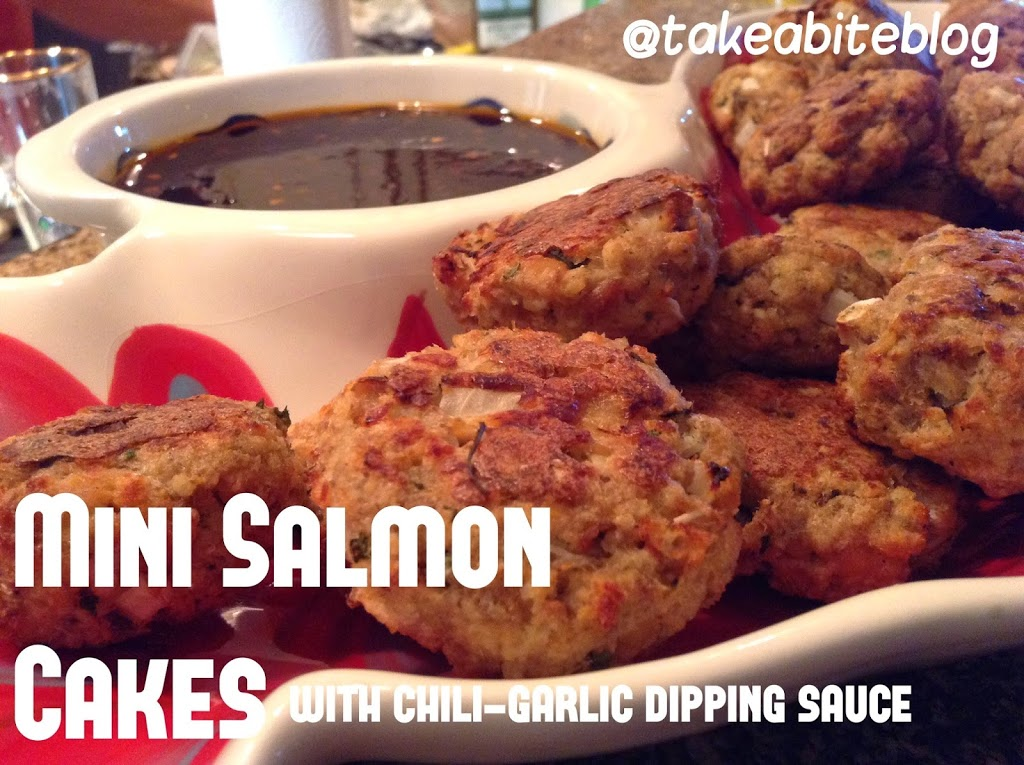 Tapas Party: Mini Salmon Cakes with Chili Garlic Dipping Sauce