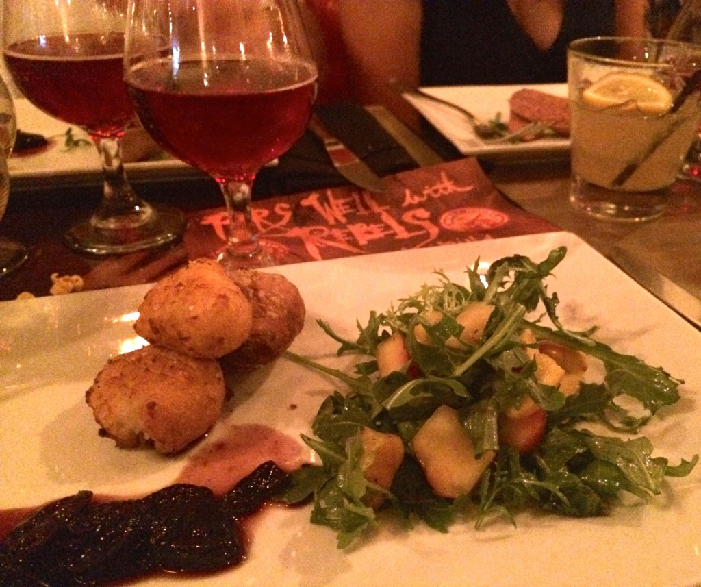 the rebel house potato panaisse and cherry jam