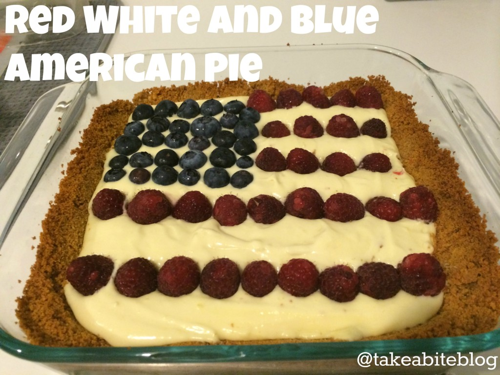 red white and blue american pie