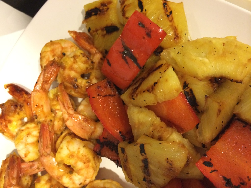 Grilled Mango-Sriracha Shrimp, Pineapple & Peppers - Take A Bite Out of Boca #winePW