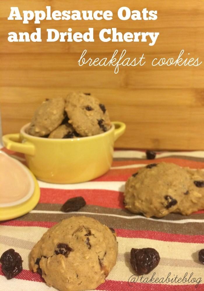 Applesauce Oats and Dried Cherry Breakfast Cookies #LeftoversClub