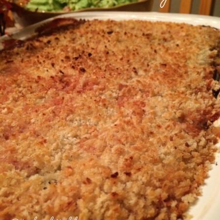 roasted eggplant and tomato lasagna