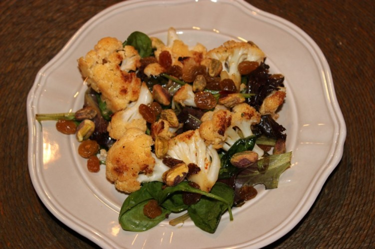 Sweet & Smokey Cauliflower Salad #SundaySupper