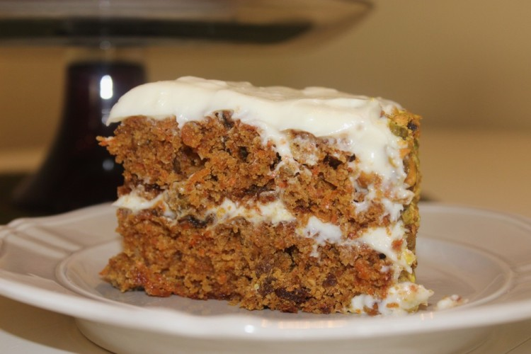Carrot Cake with Lemon Cream Cheese Icing #SundaySupper
