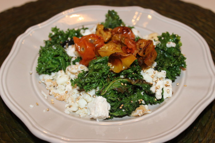 Kale and Toasted Quinoa Egg White Scramble #Brunchweek