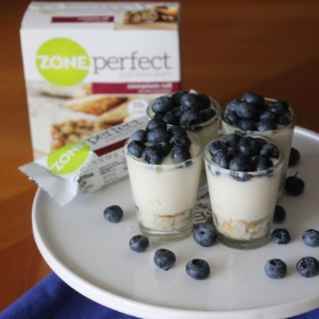 Mini White Chocolate Blueberry Pie with ZonePerfect