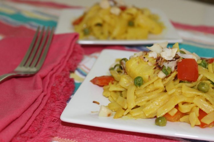 Pineapple-Coconut Curry Stir Fry #JSLFoods #TookTheChallenge