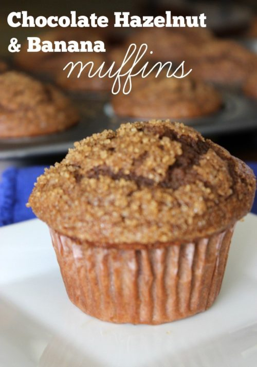 Chocolate Hazelnut and Banana Muffins #stonyfieldblogger