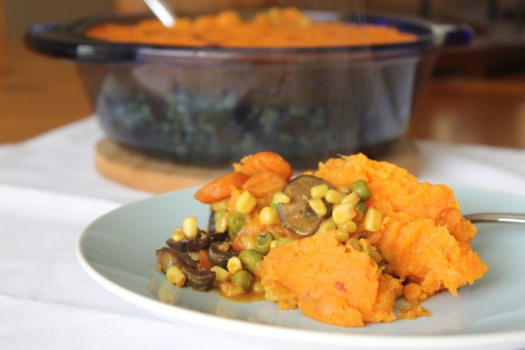 Vegetarian Sweet Potato Shepherd's Pie #SundaySupper
