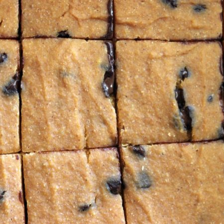 Pumpkin Chocolate Chip Cake Squares #StonyfieldBlogger
